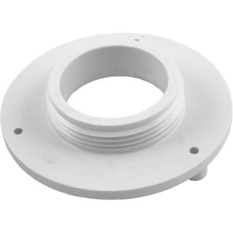 "Aquastar R415T101 4"" Sumpless Bulkhead 1.5"" MPT Wall Fitting - White"