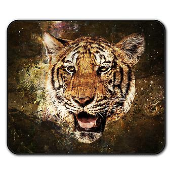Tiger Tier Auge Anti-Rutsch Mauspad Pad 24 x 20 cm | Wellcoda