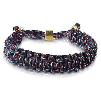 Skipper braided bracelet bracelet bracelet braided nylon blue/red gold 7176