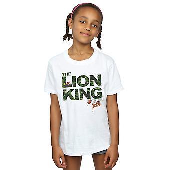 Disney Mädchen der König der Löwen Jungle Camo T-Shirt
