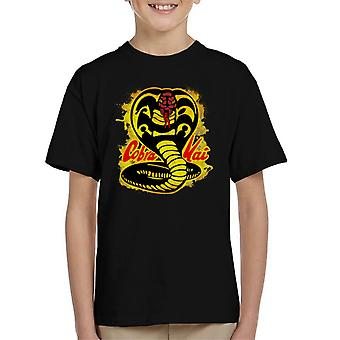 Koszulka dziecięca Cobra Kai Paint Splatter Logo