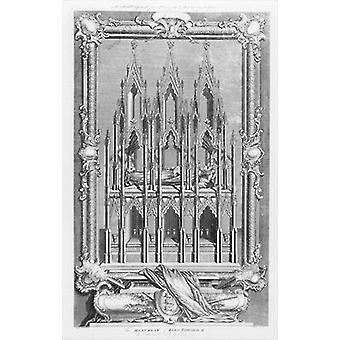 The Monument of Edward II (1284-1327) in.. - Art Print