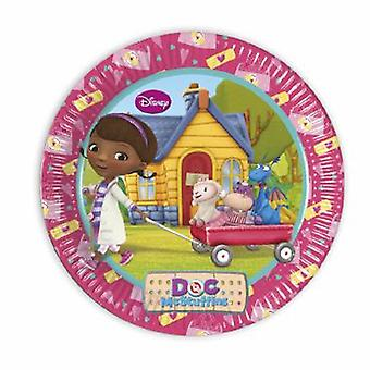 Doc McStuffins Oyuncak Doktor Parti Plakası x 23 cm 8 Parça Çocuk Doğum Günü Teması Partisi