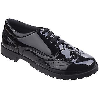 Hush Puppies Girls Eadie Junior Brogue Patent School Shoes
