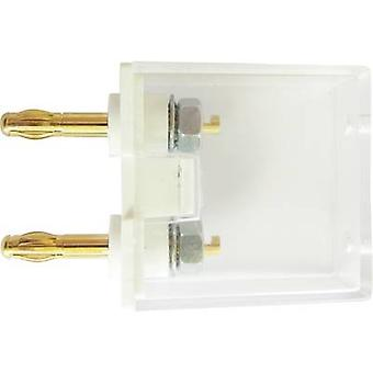 Schnepp G1 2AU Test lead adapter Banana jack 4 mm - 4 mm socket Nestable White