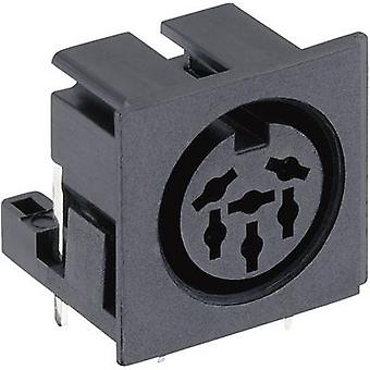 Lumberg 010599 06 DIN connector Socket, horizontal mount Number of pins: 6 Black 1 pc(s)