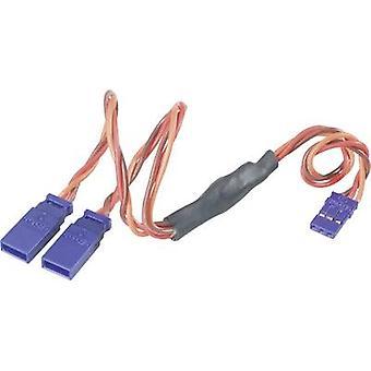 Modelcraft Servo Y-kabel [2x JR-kontakt - 1x JR-uttag] 30,00 cm 0,35 mm²