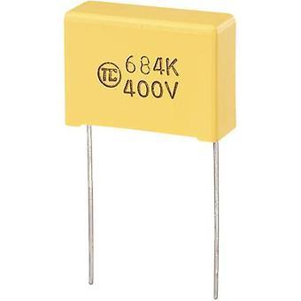 TRU مكونات 1 pc(s) MKS رقيقة الرصاص الشعاعي مكثف 0.47 μF 400 V DC 5 % 22.5 مم (L x W x H) 26.5 x 8.5 × 17 مم