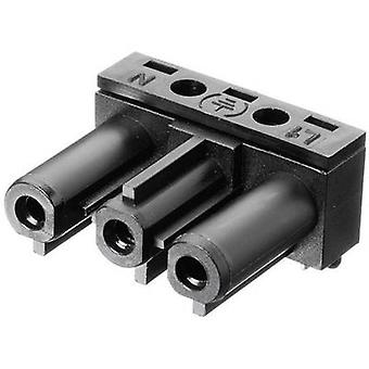 Adels-Contact AC 166 GBULH/ 3 Mains connector AC Series (mains connectors) AC Socket, right angle Total number of pins: 2 + PE 16 A Black 1 pc(s)