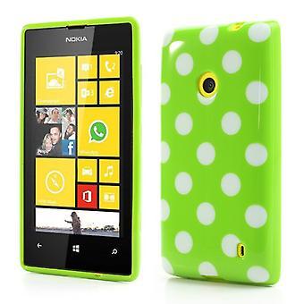 Beschermende case TPU case voor mobiele Nokia Lumia 520 525 groen / wit