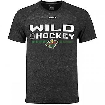 Graphique de vestiaire Reebok NHL T-Shirt Wild du Minnesota