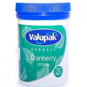 Valupak Herbals Cranberry 2000mg Tablets