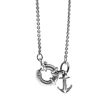Pendentif argent Collier ancre & équipage Clyde ancre Signature