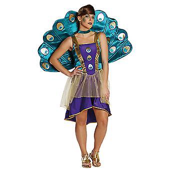 Pfau Kleid Damen Kostüm Tierkostüm Karneval Weiberfastnacht Fasching