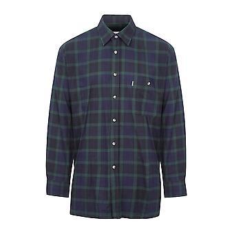 Champion Mens Country Matlock Long Sleeve Cotton Shirt XXL Navy Check