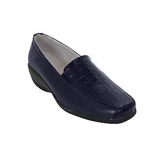 Slip léger talon bas Bureau travail brevet simili-cuir Flats chaussures dames