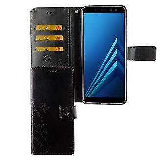 Samsung Galaxy A6 + plus 2018 mobila case väska täcker Flip case fack svart