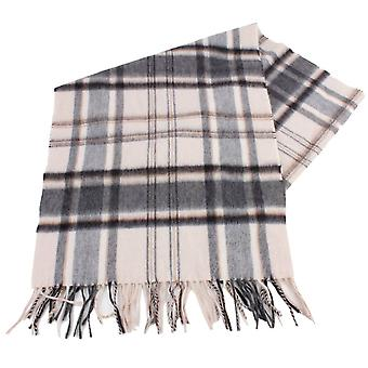 Bassin and Brown Close Large Check Cashmere Scarf - Beige/Grey/Brown