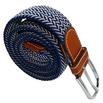 Bassin and Brown Chevron Woven Belt - Blue/White
