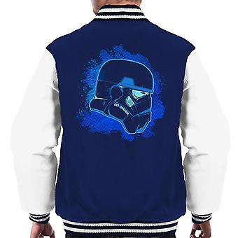 Original Stormtrooper Blue Silhouette Men's Varsity Jacket