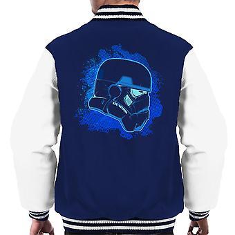Originele Stormtrooper blauw silhouet mannen Varsity Jacket