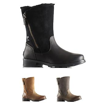 Womens Sorel Emelie Foldover Winter Waterproof Snow Fleece Mid Calf Boots