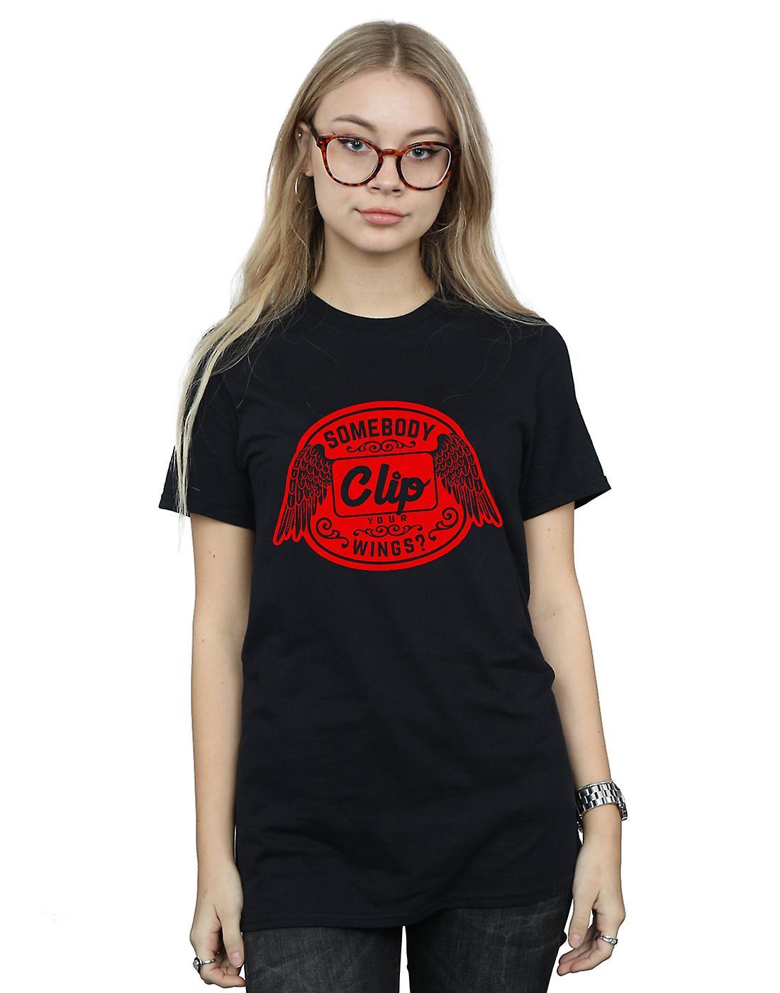 Supernatural Women's Clip Your Wings Boyfriend Fit T-Shirt