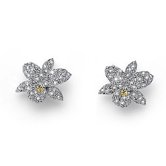 Oliver Weber Earrings Orchid Rhodium Crystal
