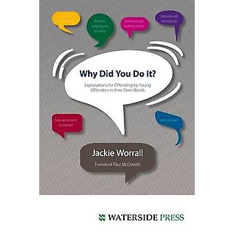 Why Did You Do It? - Explanations for Offending by Young Offenders in