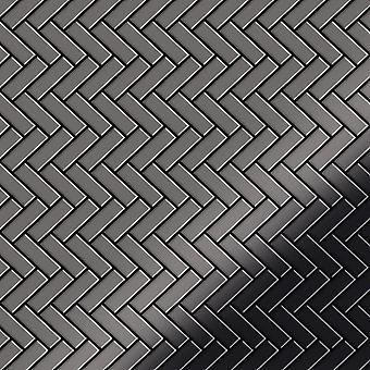 Metall mosaik TITANLEGERING fiskbensmönster-Ti-SM