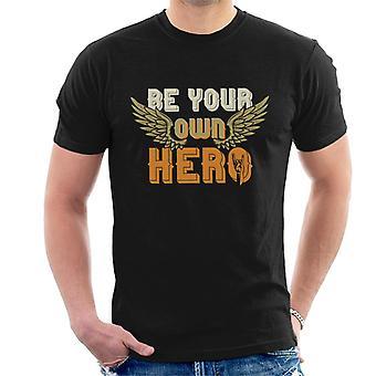 Sein eigener Held Rock auf Herren T-Shirt