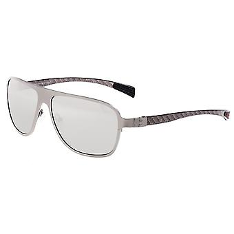 Breed Atmosphere Titanium and Carbon Fiber Polarized Sunglasses - Silver/Silver