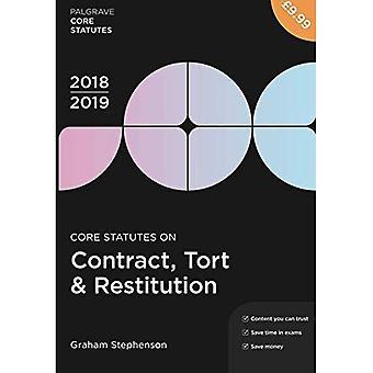 Core Statutes on Contract, Tort & Restitution 2018-19 (Palgrave Core Statutes)