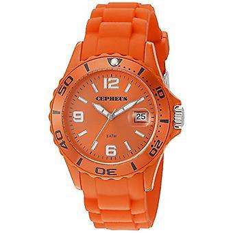CEPHEUS CP603-090E-wristwatch, silicone, colour: Orange