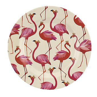 Sara Miller Flamingo Set of 4 Melamine Side Plates