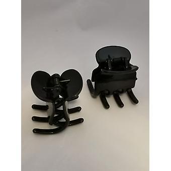 Haar clips Big (2-Pack) (zwart)