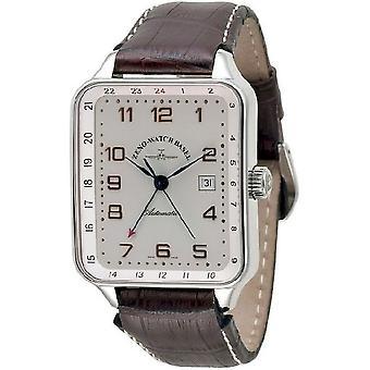 Zeno-Watch Herrenuhr SQ Retro (Dual Time) 163GMT-f2