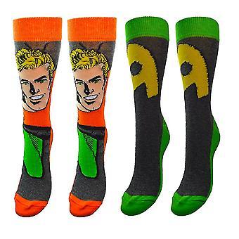 DC Comics Aquaman Assorted Socks (2 Pairs)  - ONE SIZE
