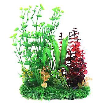 Betta Choice Green & Red Combi Plastic Plant 33cm