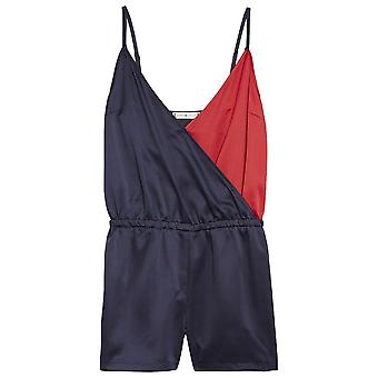 Tommy Hilfiger Frauen Colour Blocked Playsuit, Navy Blazer, X-Small