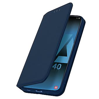 Classic Edition stand case with card slot for Samsung Galaxy A40 - Blue