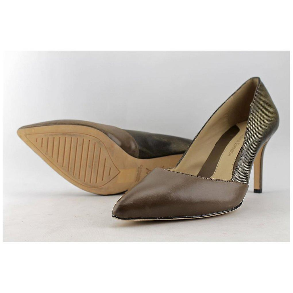 Carolinna Espinosa dame Socialite læder pegede Toe klassiske pumper