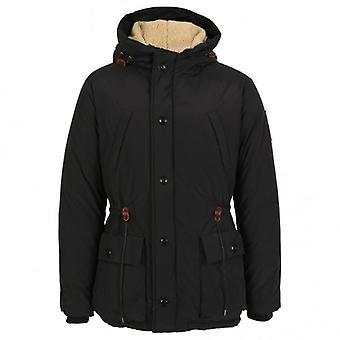 Scotch & Soda Long Outdoor Hooded Coat, Navy