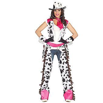 Womens Rodeo Cowgirl Fancy kjole kostyme