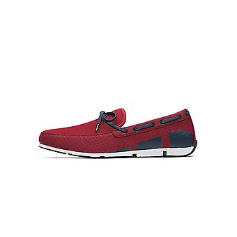 Swims Red & Navy Breeze Boat Loafer