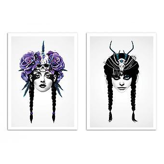 2 kunst-posters 30 x 40 cm-Duo Warriors-Ruben Ireland