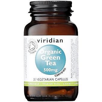 Viridian العضوية أوراق الشاي الأخضر 500mg الخضار قبعات 30 (953)