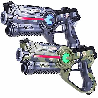 2 Laser Pistols Camo Green/Grey