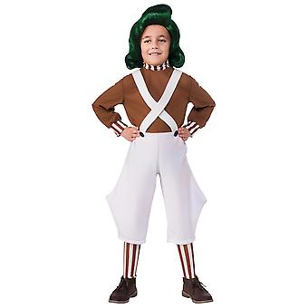 Oompa Loompa Willy Wonka Chocolate Factory Roald Dahl kirja viikko pojat puku
