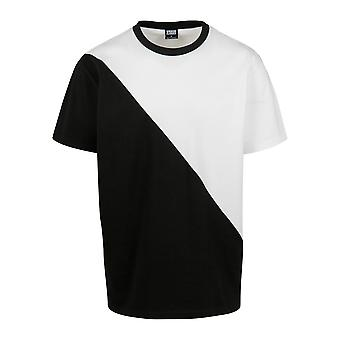 Urban Classics Men's T-Shirt Oversize Asymmetric Harlequin